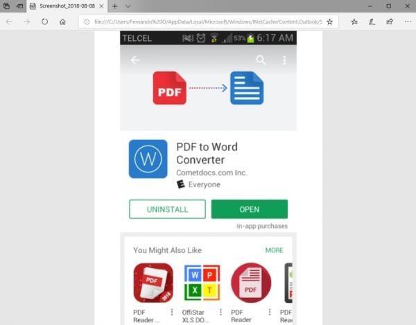 PDF to Word Converter - Documento Abierto en PDF