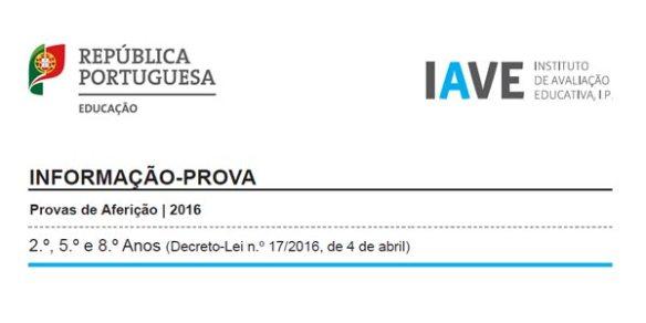 Informações Provas Aferição 2016 - 8º ano 8Ano