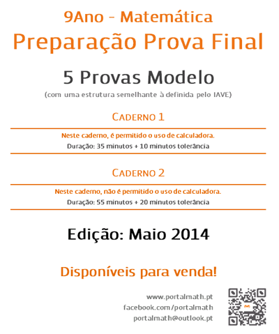 9º ano Provas Modelo Matemática 2014 2015 portalmath