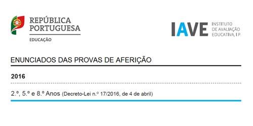 Enunciados Provas Aferição 2016 Matemática Português