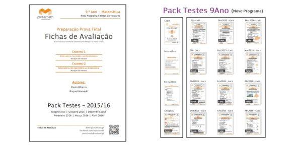 Pack Testes 9Ano Matemática Novo Programa Metas Curriculares