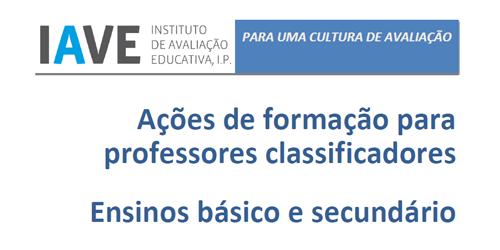 Formação de Professores Classificadores Provas de Avaliação Externa