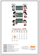 portalmath matemática exercícios calendário mensal fevereiro 2018