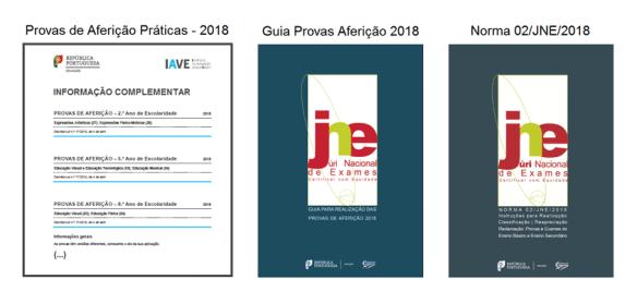 portalmath Informações complementares Provas Aferição 2018 Norma 02/JNE Guia realização provas aferição exames