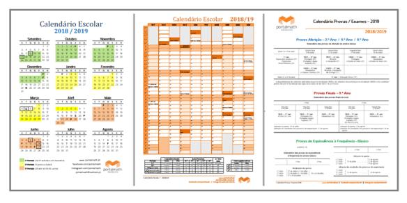 Calendário Escolar 2018/19 portalmath
