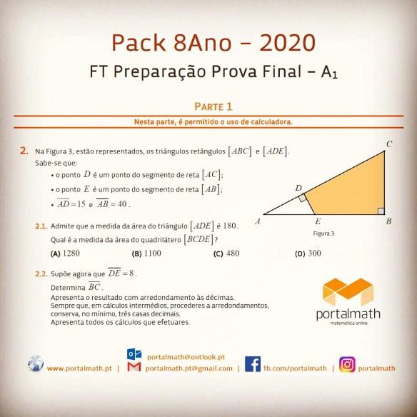Packs 2020 Preparação Prova Aferição Exame 8ano Provas Modelo exercícios matemática portalmath