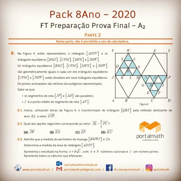 Pack 8Ano - 2020 Preparação Prova Aferição Final