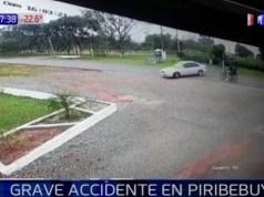 Violento choque de motociclista en Piribebuy