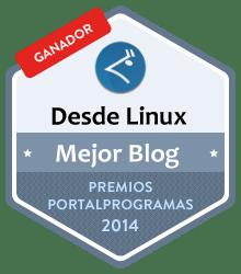 Ganador como Mejor blog de software libre en los Premios PortalProgramas al mejor software libre 2014