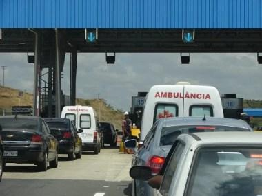 Ambulâncias terão acesso livre nos pedágios da Bahia