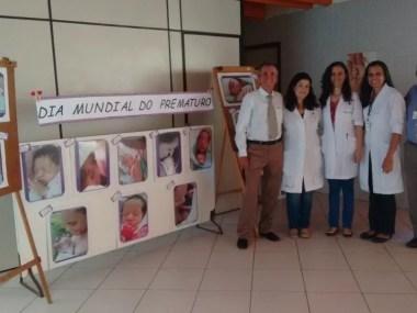 Exposição de fotos sobre prematuros no HGCA