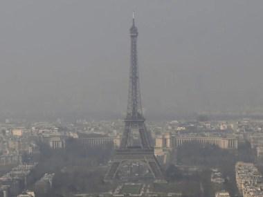 Poluição aumenta em Paris