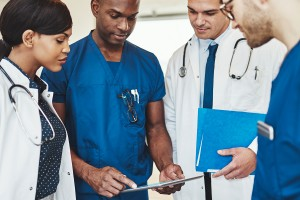 Group of multiracial doctors