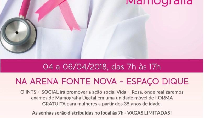 Exame gratuito de mamografia