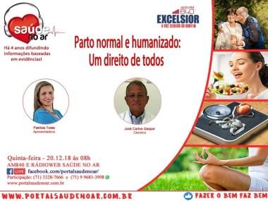 Parto Normal e humanizado foi o tema do Programa Saúde no ar desta quinta- feira (20/12)