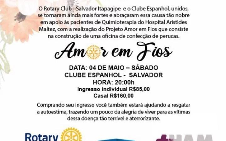 Rotary Club e Clube Espanhol promovem Jantar para confeccionar perucas para pessoas com câncer