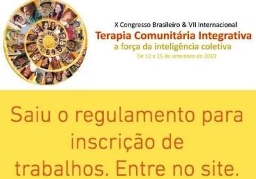 X Congresso Brasileiro & VII internacional - Terapia comunitária integrativa