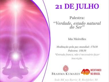 Brahma Kumaris - Palestra e meditação pela Paz