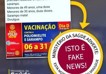 Fake News - Banner falso de Campanha contra o  sarampo