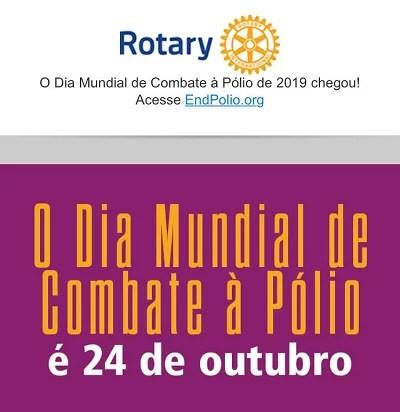24 de outubro 2019 - Dia Mundial contra a poliomielite