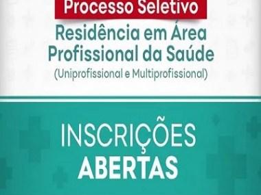 Aberta as inscrições para Processo de Residência na área de Saúde