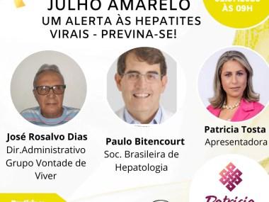 Julho amarelo- Hepatites virais uma pandemia silenciosa