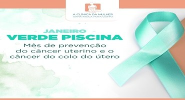 Janeiro verde piscina - Combate ao câncer do colo do útero