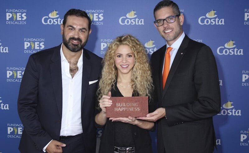 Shakira e Costa Crociere construirão uma escola na Colômbia