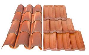 telhas de barro /concreto do tipo francês ou do tipo capa-canal
