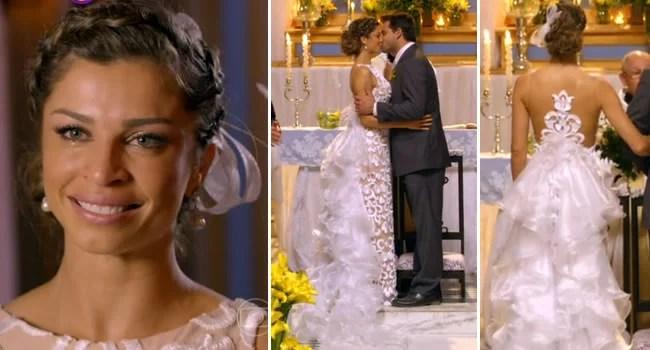 vestido de noiva ester para a novela a flor do caribe