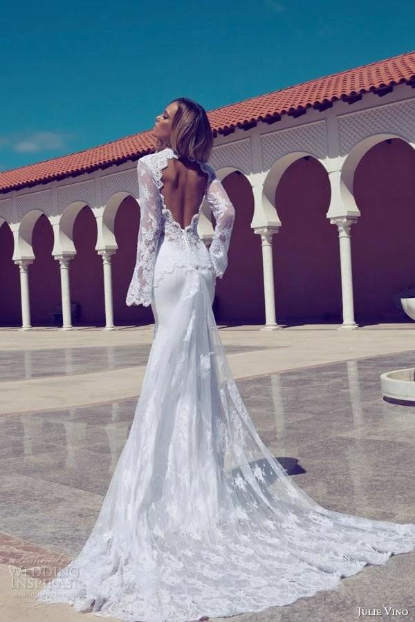 julie-vino-fall-2014-long-sleeve-wedding-dress-keyhole-back-train