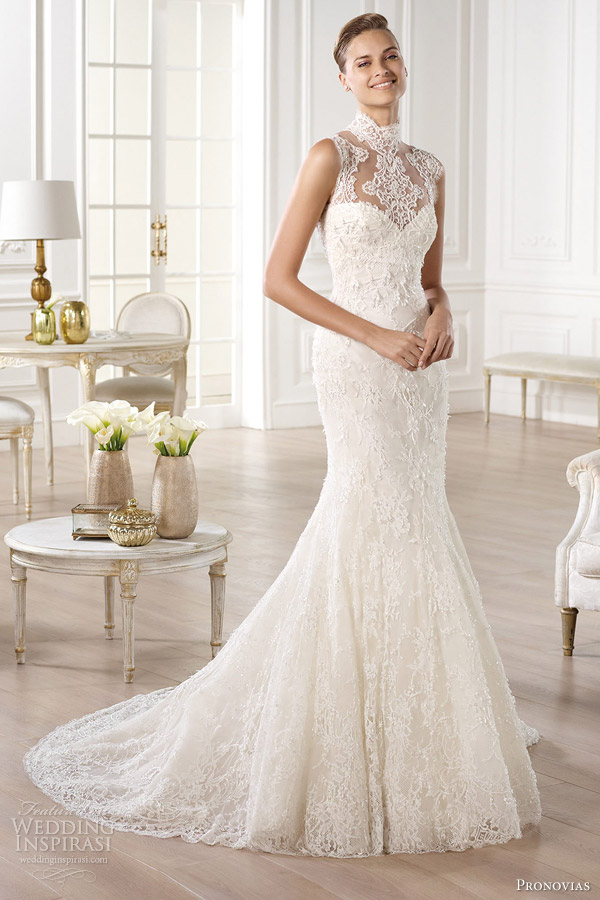 3-pronovias-bridal-atelier-2014-yedira-high-neckline-wedding-dress