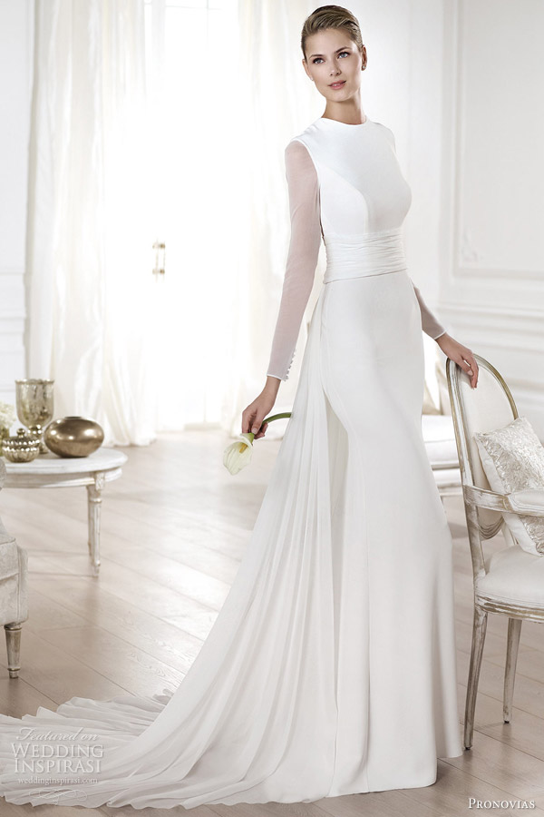 8-atelier-pronovias-wedding-dresses-2014-atelier-yelice-long-sleeve-bridal-gown