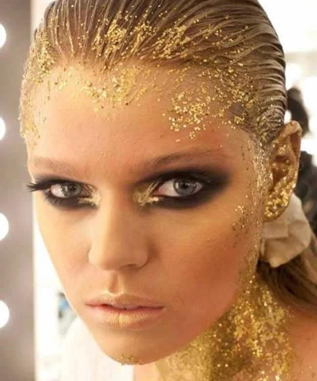 maquiagem-carnaval-glitter-folha-ouro