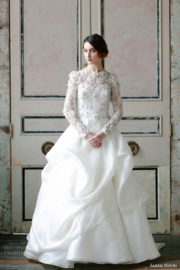 sareh-nouri-spring-2015-off-shoulder-long-sleeve-wedding-dress-asi