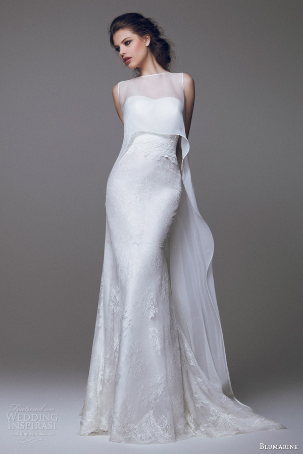 blumarine-wedding-dresses-2015-strapless-lace-gown-with-sleeveless-high-to-low-overlay