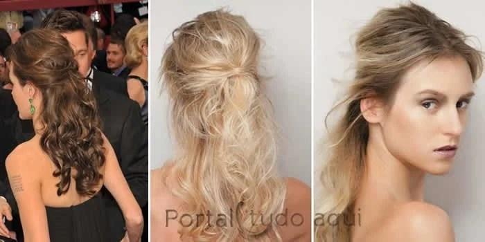 penteado-para-cabelos-finos-penteado-semi-preso