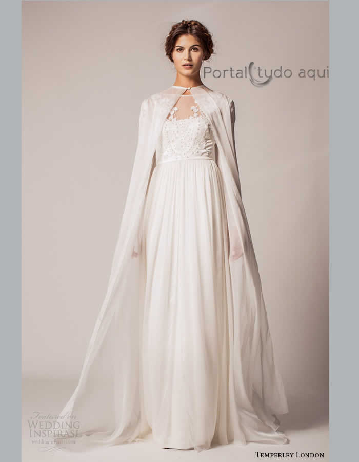 vestido-de-noiva-inverno-2015-2016-longo-com-capa-em-crepe