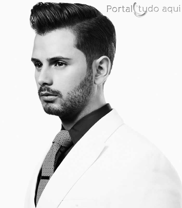 Hair by France Country Finalist Guillaume Fort (Photo by David Raccuglia for American Crew)