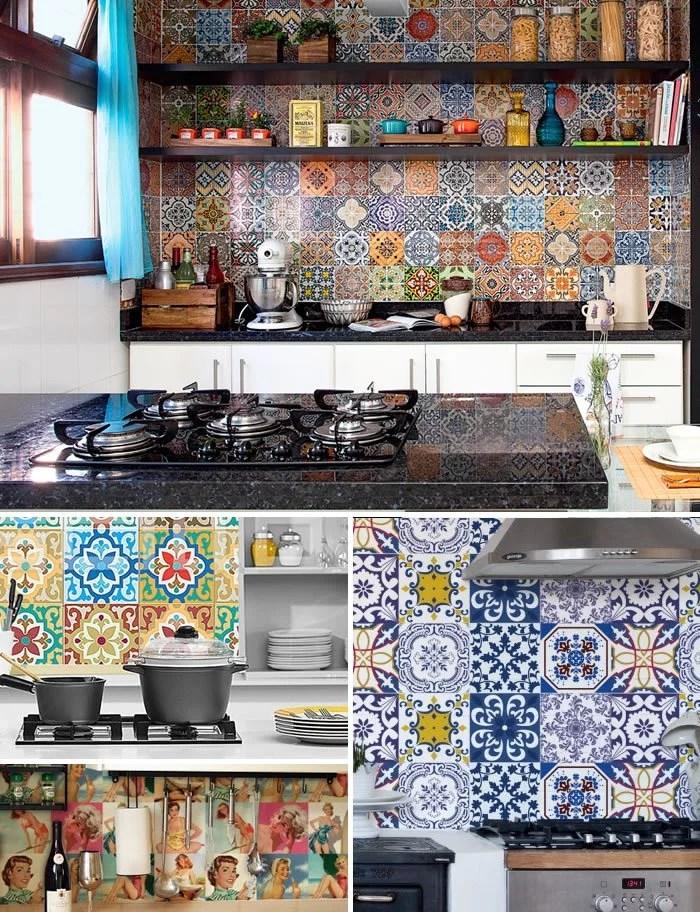 adesivos de azulejo para a cozinha.