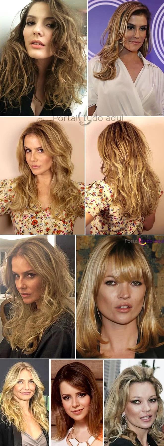 corte e cor para cabelo fino - cabelo corte medio