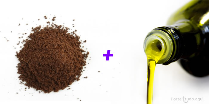 po de cafe e azeite de oliva