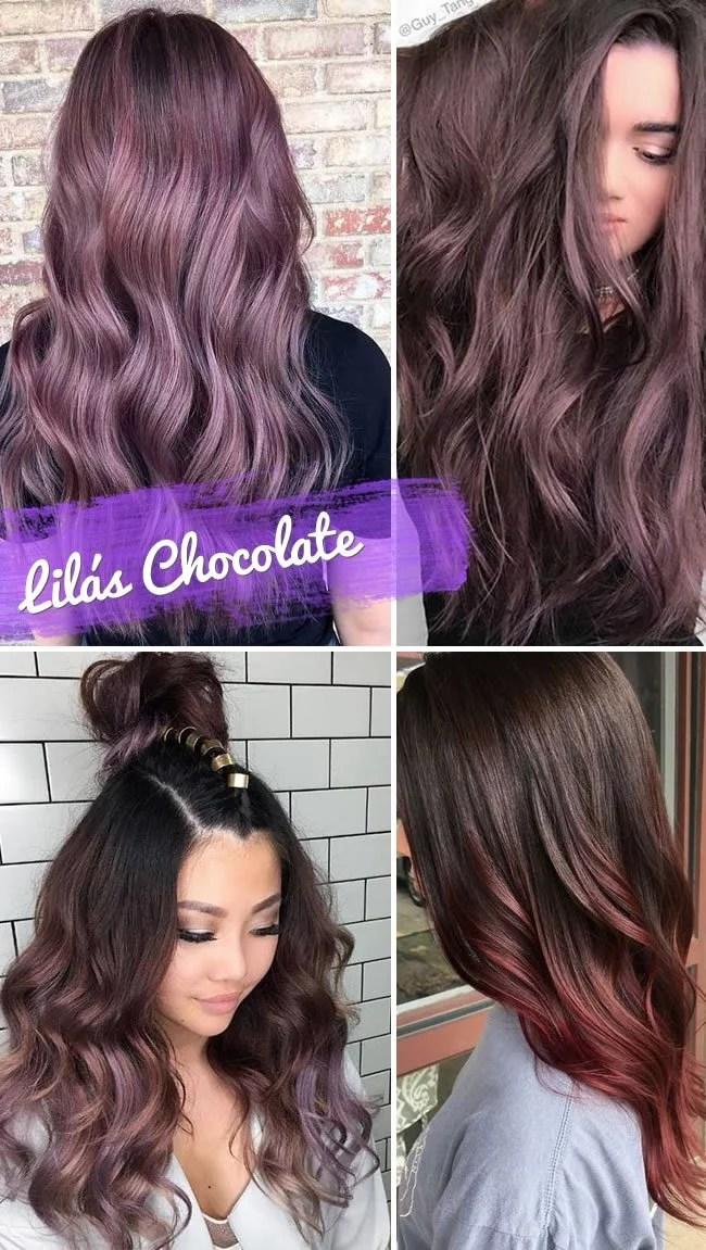 Chocolate hair ou cabelo lilás chocolate.