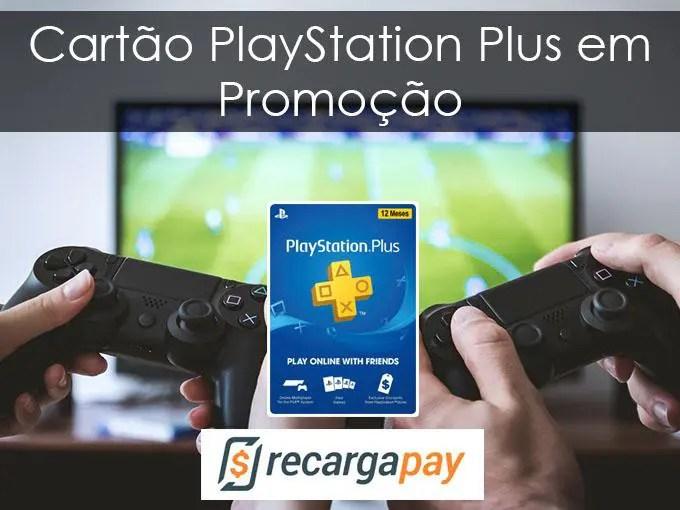 Cartão PlayStation Plus em Promoção