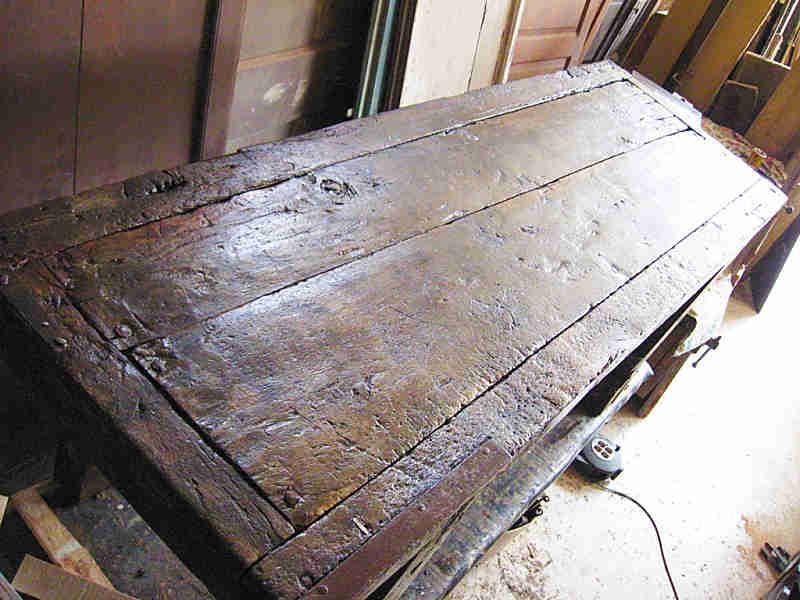 Banco da lavoro antico restaurato  Portantica
