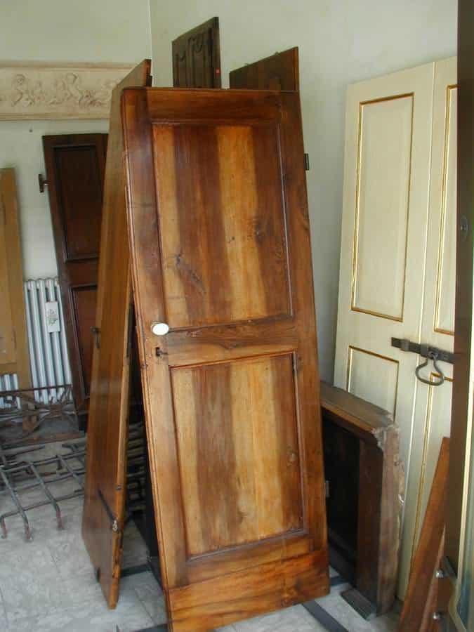 Piccola porta in noce allungata e restaurata  Portantica