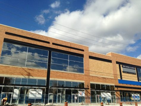 Walmart was to occupy the second floor