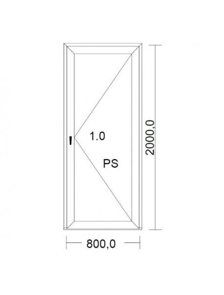 porte de service pvc blanche gauche droit pour tableau 200 x 80