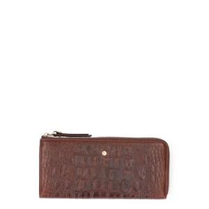 FMME Wallet Large Croco Brown