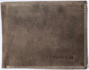 Lundholm Leren portemonnee heren leer luxe taupe bruin - Premium vintage leer - cadeau